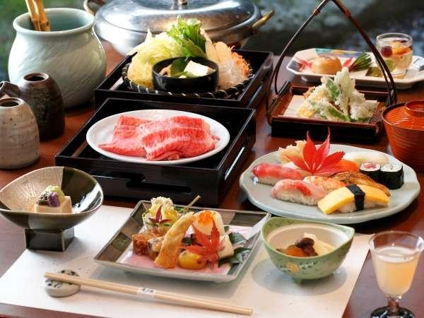 【お食事処 風月】では、職人が真心こめて調理。お寿司・天麩羅に和牛しゃぶしゃぶをお楽しみ頂けます。