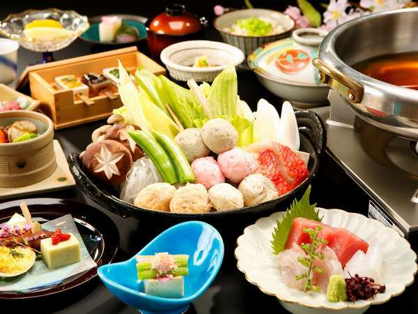 【お食事処 花鳥】和食会席と四季彩鍋イメージ