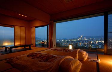 写真:展望風呂付客室