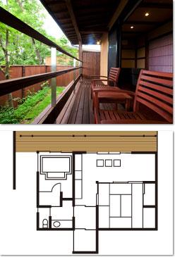 わらび -WARABI- - - -都会的な空間を演出した重厚感の高い客室タイプです。